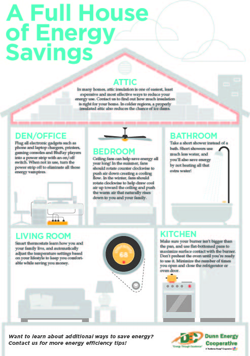 Energy Efficiency Tips Infographic