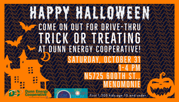 Drive thru trick or treating on October 31